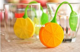 Wholesale Silicone Teabag Tea Strainer Infuser Teapot Teacup Filter Bag Lemon Style