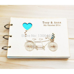 Wholesale Personalized Wedding guest book Rustic wedding guestbook album Wedding Present Anniversary Gift Bride and Groom styles