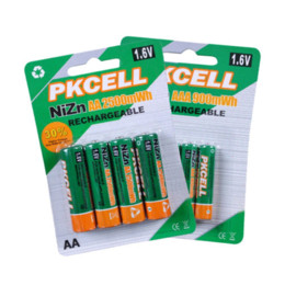 PKCELL 4Pcs 1.6V 2500mWh AA Batteries+4Pcs 900mwh AAA Batteries NI-ZN AA AAA Rechargeable Battery battery operated santa claus