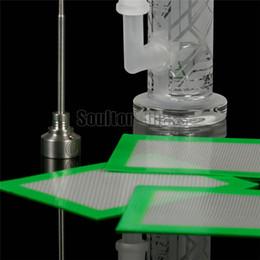 Wholesale Soulton Glass Non Stick Silicone Pad Silicone Baking Mat Nonstick Silicone Mat Silicone Dab Mat Dab Pad With Glass Fibre DB