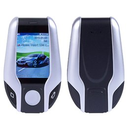 Wholesale Mini i8 Car key Shaped Cell Phone mah battery Inch touch screen bluetooth dialer mobile phone