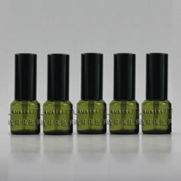 15ml olive green Glass travel refillable perfume bottle with black aluminum atomiser sprayer,perfume container,thin bottom