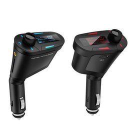 Wholesale Car Stereo MP3 Player Wireless FM Transmitter with LCD MP3 WMA Radio USB SD MMC Card Audio Blue and Red