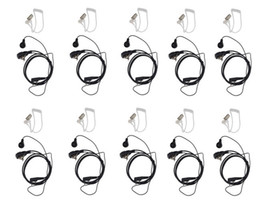 Wholesale-10 Pack Air Acoustic Earpiece Headset for Kenwood TH-F6 BAOFENG Two Way Radio UV-5R UV-5RA Plus BF-888S UV82 GT-3 Walkie talkie