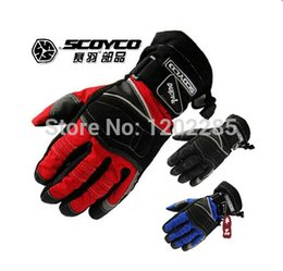 Wholesale-2014 Fashion SCOYCO MC15 MOTO racing gloves waterproof Motorcycle gloves  protective glove off-road gloves 3 kinds of color