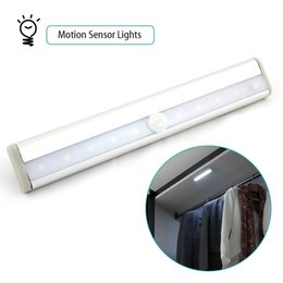 Wholesale LED IR Sensor light Wireless PIR Auto Motion Sensor Light Intelligent Infrared Induction Lamp Night Lights for Cabinet Hotel Closet Y4266D