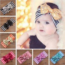 Promotion accessoires de cheveux pour les bébés filles 2015 New Girl Fashion Stripe bandeau incline Bandeau bébé Chef envelopper Braid Turban bandeau Accessoires cheveux