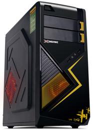 Three Yellow Thunder Blade PC gaming chassis