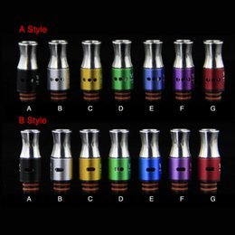 Colorful Stainless Steel Drip 510 Adjustable airflow Drip Tips for 510 EGO CE4 DCT Protank Atomizer Mouthpiece RDA EGO ONE Mega Vaporizer