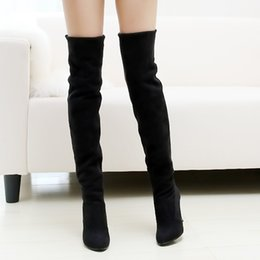 Wholesale Hot Selling Womens Long Boots Shoes Plus Size Fashion Style High Heels Ladies Shoes Casual Boots Size TZ0329 salebags