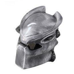 Wholesale Animation Cartoon Alien vs Predator Strike Protection LED lighted cm Mesh PVC Mask Cosplay Sliver Black