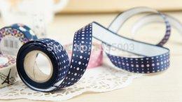Wholesale 1lot Meter DIY Scrapbooking fashion ribbon tape enjoy life series high quality Satin tape Office Adhesive silk tape