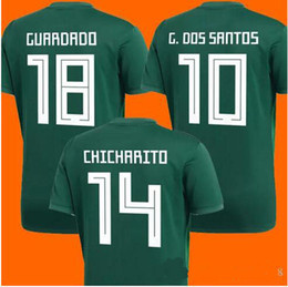 2018 world cup new Mexico home red Soccer Jersey Mexico soccer shirt world cup CHICHARITO R MARQUEZ G DOS SANTOS Football uniforms sales