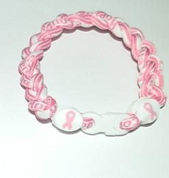 Ruban rose sein à vendre-Gros-30pcs ruban rose bracelet de sensibilisation au cancer du sein Livraison gratuite