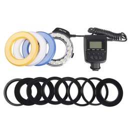 Wholesale Macro LED Ring Flash Light with Adapter Rings RF600D Speedlite for Nikon Canon Olympus Panasonic DSLR Cameras