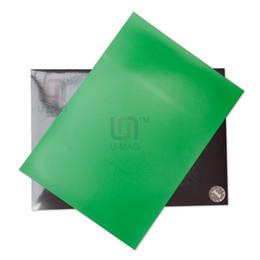 Pvc de láminas mm en Línea-1pcs Imanes magnética de goma hoja tamaño A4 verde PVC 1 mm de espesor flexible con PVC color fácil de cortar
