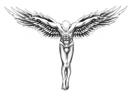 attoo Body Art Temporary Tattoos Temporary tattoos back guardian angel wings transfer spray large tattoo stickers sexy body makeup high q...
