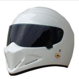 Wholesale Hot Sale New design Men s Outdoor Simpson StarWars Helmets ATV Motorcycle racing full face helmet Exported to Japan visor white