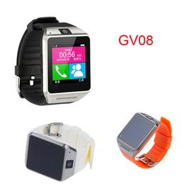 Wholesale GV08 Healthy Bracelet Smart Watch Phone For Android Bluetooth Connection quot Touch Screen Remote Photo SYNC Call SMS DHL Free OTH082