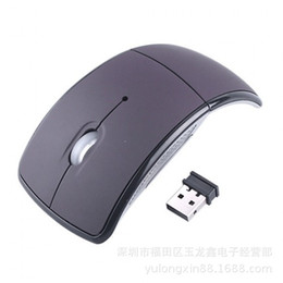 Wholesale Mini USB Ghz Snap in Transceiver Optical Foldable Folding Arc Wireless Mouse for PC Laptop Computer