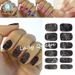 Wholesale New Water Transfer Nail Foil Sticker Art Sexy Deep Gray Marble Stone Mars Rock Nail Wraps Sticker Manicure Decals HS2209