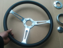 Universal 380MM 16inch leather racing steering wheel 3X
