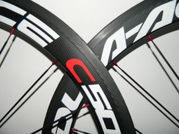 Wholesale Best quality white red rim full carbon bicycle wheelsets ceramic bearing Carbon Wheelset Red Blue Full Carbon mm Road Bike Wheels h