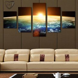 Wholesale Sunrise Wall Art Home Decor - 5 Piece(No Frame) Hot Sell Sunrise Modern Home Wall Decor Canvas picture Art HD Print Painting Set of 5 Each Canvas Arts