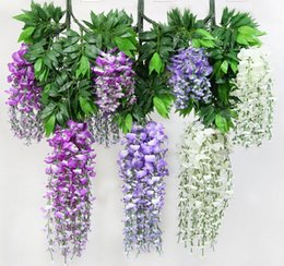 12pcs lot Artificial 105CM home decor Wisteria silk flower holiday decoration weddings & events simulation flower