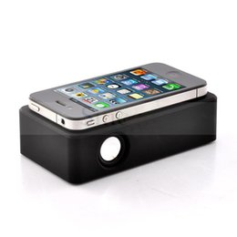 Wholesale Hot Brand New Wireless Amplifying Audio Interaction Induction Speaker for iPhone Samsung Smart Phones Black White