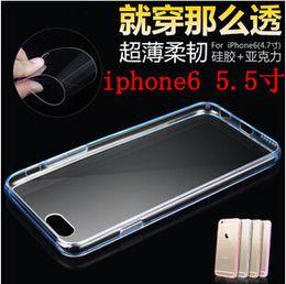 Hot For iphone 6 5S 4S Transparent Transparent TPU Housse Hybride TPU + PC dos pour Iphone 6 plus coloré Peau Bumper à partir de pare-chocs 5s transparent fabricateur