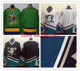 2017 maillots de sport 2016 Nouveau, Anaheim Mighty Ducks Jersey Blank Green Throwback Hommes Maillots de hockey sur glace Uniforme Violet Blanc Stitched Sports S maillots de sport à vendre