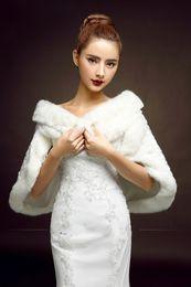 Elegant Ivory Wedding Bridal Faux Fur Wrap Woman Shawl In Stock Women Jacket Fashion Winter Women Accessories