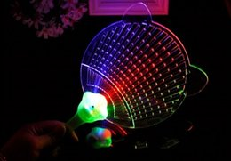 New Hot Cool LED Light Fans Glowing Hand Fan Luminous Children Gifts Toy Novelty