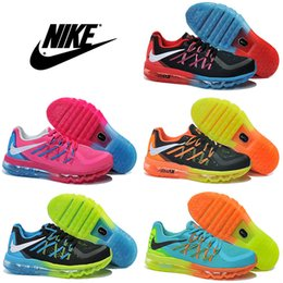 Discount Shoes Run Air Max Nike Air Max 2015 Children's Athletic Shoes Boys Girls Running Shoes Cheap High Quality Kids Sport Shoes Size Free Shipping Eur 28-35