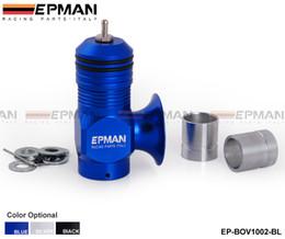 Wholesale Tansky EPMAN Bov Type H RFL Turbocharge Aluminum Blow Off Valve Turbo psi Boost Blue Black Silver EP BOV1002