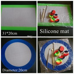 Silicone wax pads dry herb mats large 20cm round or 31*20cm square mat dabber sheets jars dab tool for silicon oil containers