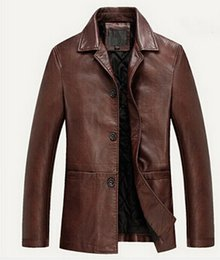 Wholesale Fall High quality Autumn Winter Leather Clothing Men Leather Jackets Soft Sheepskin Business Casual Coats For Mn Male Biker Jacket