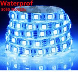 Led Lamp 5M LED Strip 3528 5050 Waterproof Light DC 12V 60LEDs M 300LEDs Garden Decoration Warm White Cold White Red Green Blue Yellow RGB