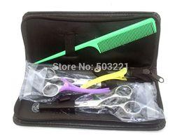 professional stainless hairdressing scissors set kKit barber hair thinning