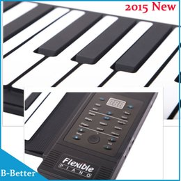 Wholesale New Upgrade Keys Digital Piano Instrumentos Musicais Flexible Roll Up Piano Silicon Piano Keyboard with Speaker