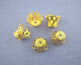 Wholesale 260PCs Gold Plated Ornate Filigree Bell Bead Caps Jewelry Findings mm Free Express