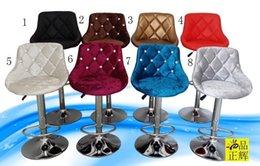 Wholesale Quality flannelette drill chair Fashion bar chair The front desk chair Swivel chair The chair lift