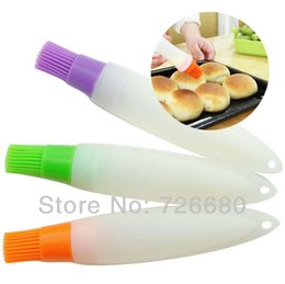 Wholesale Christmas Gifts Baking Cooking BBQ Tool Chocolate Egg Liquid Oil Silicone Tube Brush