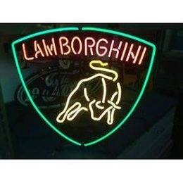 Wholesale NEON SIGN COW AUTO CAR LOGO BOURBON HANDICRAFT REAL GLASS TUBE BEER BAR LIGHT GAME ROOM SHOP x15 quot