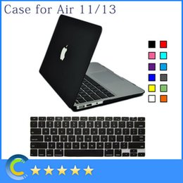 Wholesale Matte Slim Rubberized Hard Shell Case with Silicone keyboard Cover for Apple Macbook Air Inch Pro Inch Retina Inch color