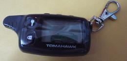 2014 El envío gratuito LCD remoto para Tomahawk TW9010 coche sistema de alarma de dos vías desde sistema de alarma a distancia un coche fabricantes