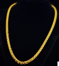 chaming yellow gold filled chain men and women necklace (pfmcgy88 ) iikyui