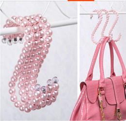 5pcs set 2016 popular S hook Plastic Pearl Clothes Clothing Hangers Fashion Personality Elegant hangers bags hooks wedding dress Robe Hooks
