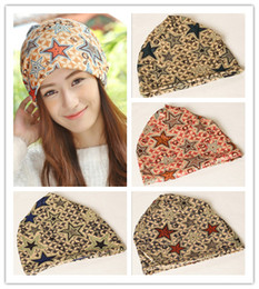 Wholesale High Quality Cotton Beanies Winter Warm Hats For Women Korean new letter G five pointed star pattern two uses piles caps Hot sale